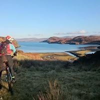 Cycle to remote beach locations on Skye